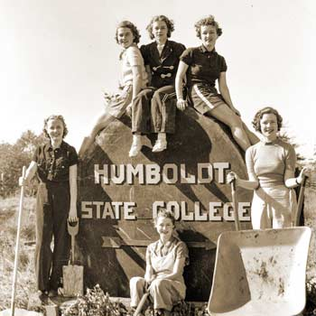 Old HSU Sign