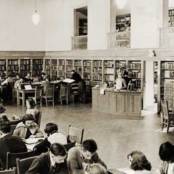 Early Library in Founders Hall