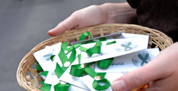green pledge ribbon