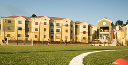 College Creek Apartments and soccer field