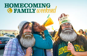 Homecoming & Family weekend graphic