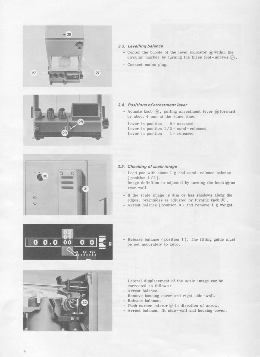 Mettler H10/20T Instruction Manual