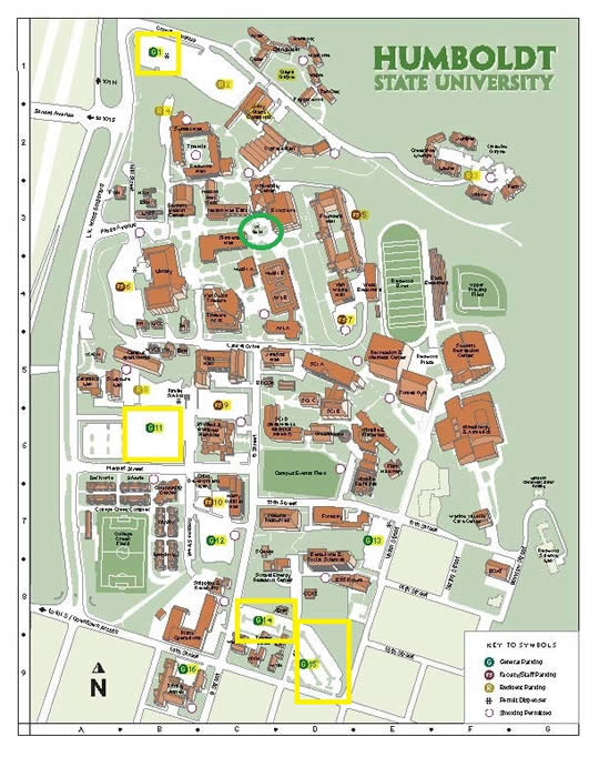 Humboldt State Map HSU Spring Preview   Maps/Transportation Humboldt State Map
